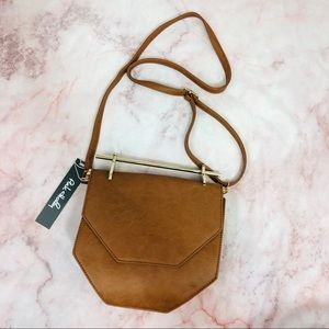NWT The 'Hester' Gold Hardware Crossbody in brown